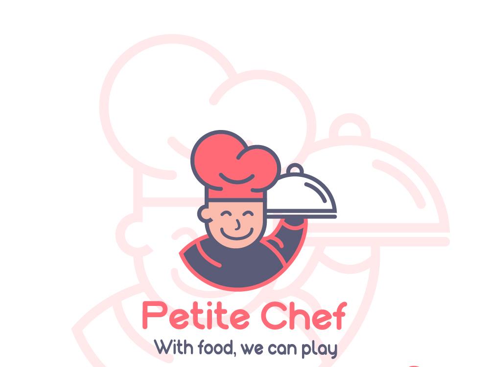 Petite Chef -LOGO icon vector character art chef hat chef logo brand and identity logo logodesign