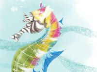 Rainbow Seahorse