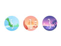 Icons numbers