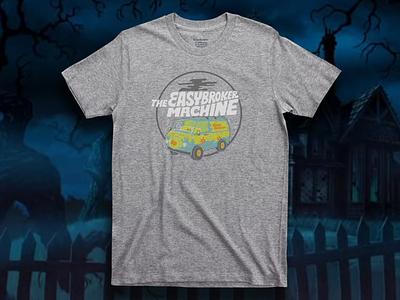 T-shirt: The EasyBroker Machine scoobydoo team merch tshirt easybroker typography branding illustration