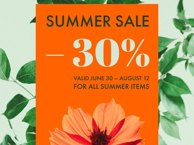 Summer Sale — Design Template — Social Post promotion post design post instagram post instagram flyer advertising summer graphic design graphic visual design visual social app design template template sale illustration typography visualdesign socialgraphics