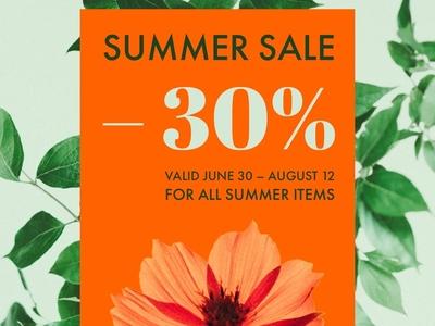 Summer Sale — Design Template — Social Post