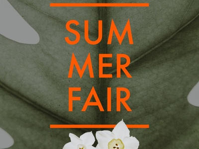 Summer Fair — Design Template — Social Post visualdesign typography illustration socialgraphics