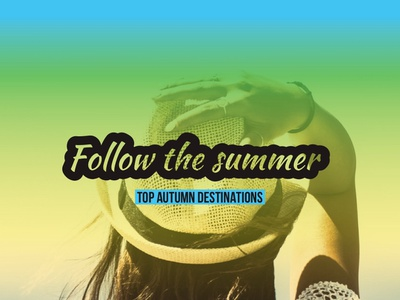 Follow The Summer — Design Template — Social Post graphics advertising poster gradient instadesign instagram post social visual design visual socialgraphics typography