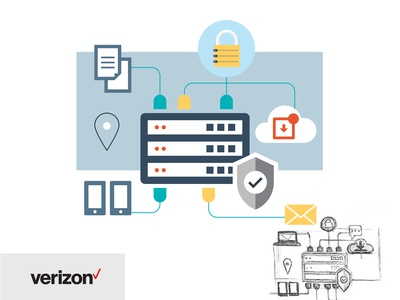 Servers Illustration. Verizon.