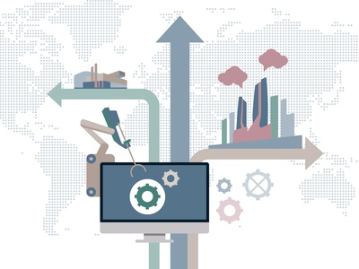 Manufacturing and Industrial Vector Illustration