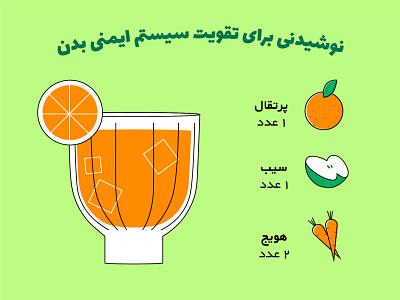 Healthy juice drawing digital illustration digitalart concept design