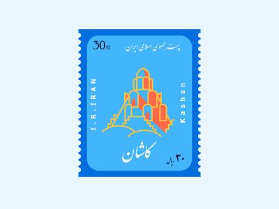 Postage Stamp logo illustration dribbble drawing digital illustration digitalart art concept design