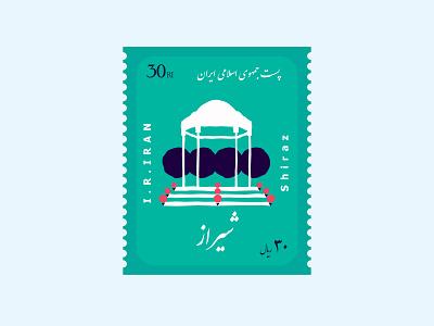 Postage Stamp logo illustration dribbble drawing digital illustration digitalart concept art design