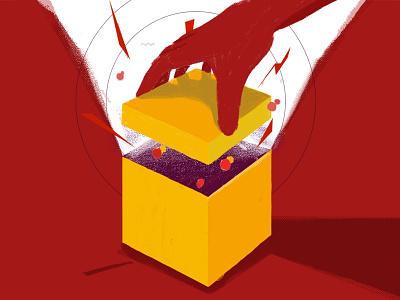 Magic box digital painting illustration dribbble drawing digital illustration digitalart design concept art