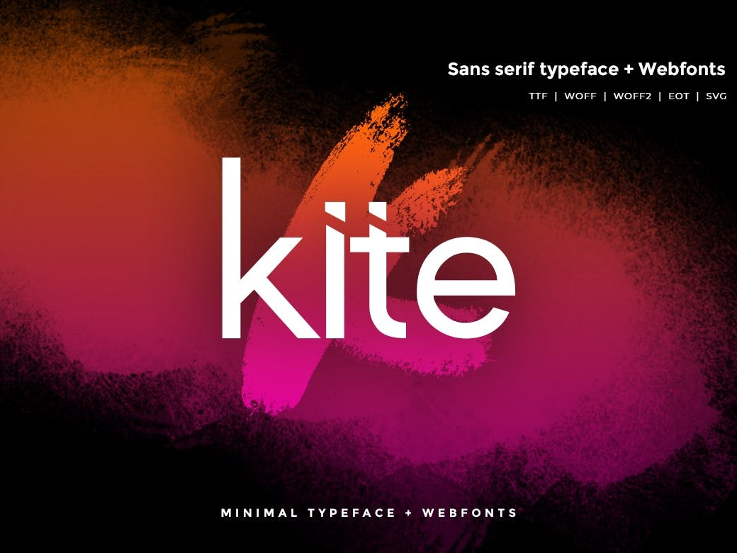 Kite - Modern Typeface WebFonts vector simple mordern typography web font branding clean creative