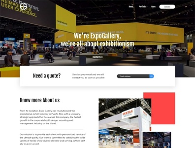 Landing Page l Expo Gallery events website