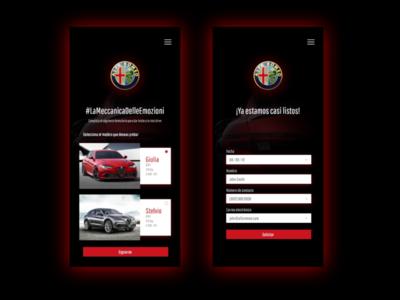 Test Drive Mobile UI l  Alfa Romeo