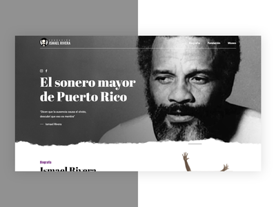 Ismael Rivera Web Design puerto rico singer black gray ui web web design