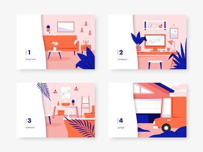 Interior Illustrations.