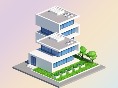 Impossible Low Poly Building