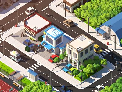 Low Poly City Pack V2