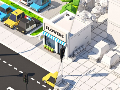 Low Poly Flower Shop