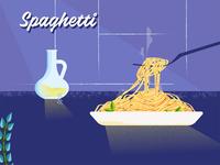 Food illustration - Spaghetti