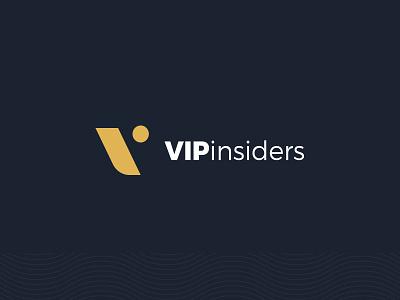 VIPinsiders Logo logos logo design logotype v loyalty app logo