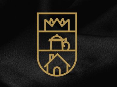 King's Bier Haus Badge gold beer haus bier crown illustrator photoshop badge
