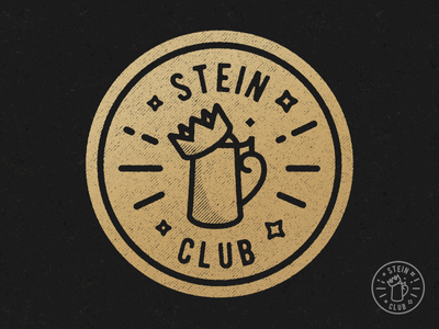 King's Stein Club Badge pin gold crown beer stein photoshop kings patch icon illustrator