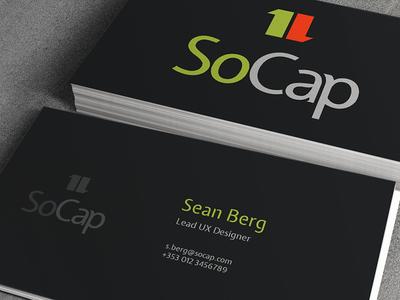 SoCap - business card (WIP) business card socap financial