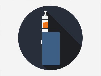 E-Cigarettes - iStick with Aerotank aerotank kangertech ecig vape ecigarette vaping elaf istick nautilus icon flat wip