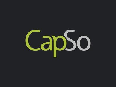 CapSo Logo logo typography green grey