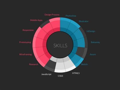 Design skills by sean canha berg dribbble pie chart made in html css and jquery for my portfolio to sum up my skills httpcanha ccuart Gallery