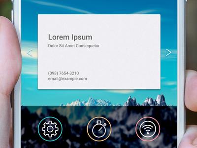 Concept Business Card app business card concept app