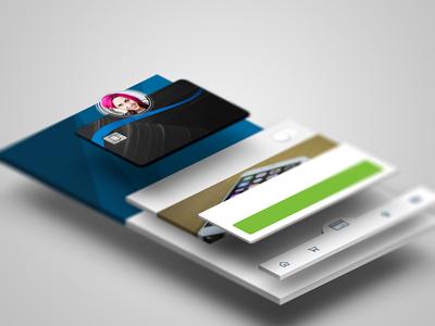 Mobile Wallet Concept fintec concept ios wallet