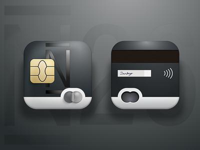 N26 Card icon dark blue black chip mastercard icon n26 credit card card