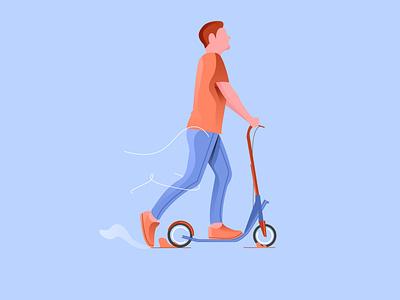 scooter dribbble best shot dribbble logo art illustrator flatdesign flat gfxmob gradient design illustration