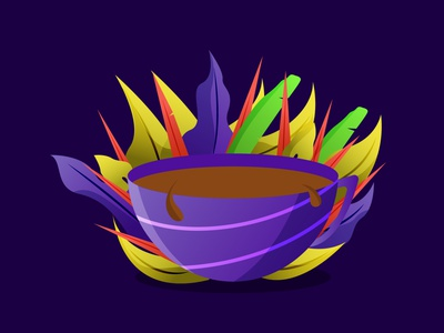 A Cup of Coffee gradient dribbble best shot dribbble flat ui design illustrator flatdesign gfxmob illustration