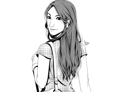 Doodle girl digital illustration design illustration illustration art digital 2d image digital art
