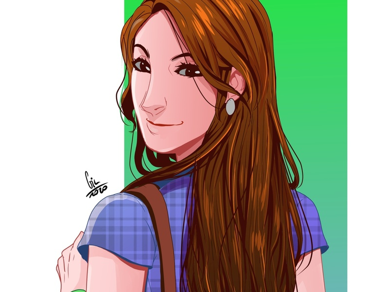 Another illustration of a brown hair girl digital illustration illustration illustration art digital 2d image digital art