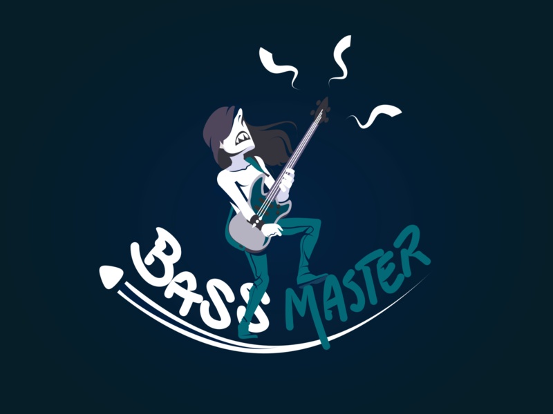 Bass master - vector illustration icon vector digital illustration design illustration illustration art digital 2d image digital art