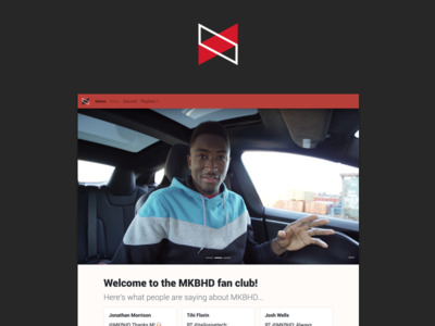 MKBHD Fan Site cards tweets responsive web development responsive web design youtuber mkbhd