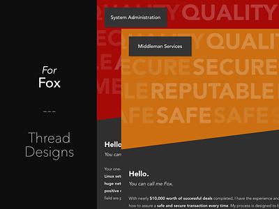 Client Thread Designs ui design ux design web design forum thread thread designs