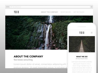 Website Design for Yoix Company affinity photo sketch app ux design ui design uiux desktop mobile mockups web design