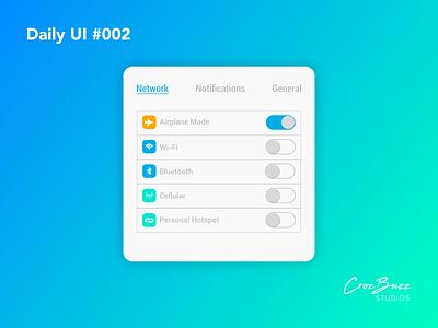 Daily UI #002 smartphone toggles settings ux design uiux ui design dailyui affinitydesigner