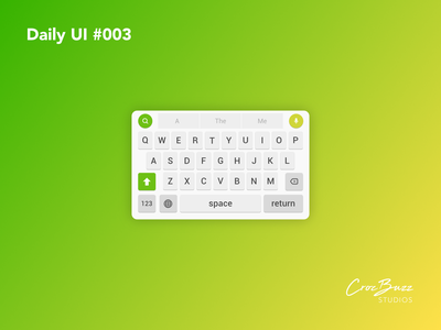 Daily UI #003 smartphone software keyboard ux design uiux ui design dailyui affinitydesigner