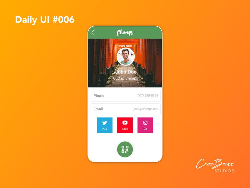 Daily UI #006 profile daily ui 006 ux design uiux ui design dailyui affinitydesigner