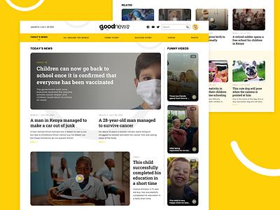 News Site - GoodNews ui design good news news site design web design ui