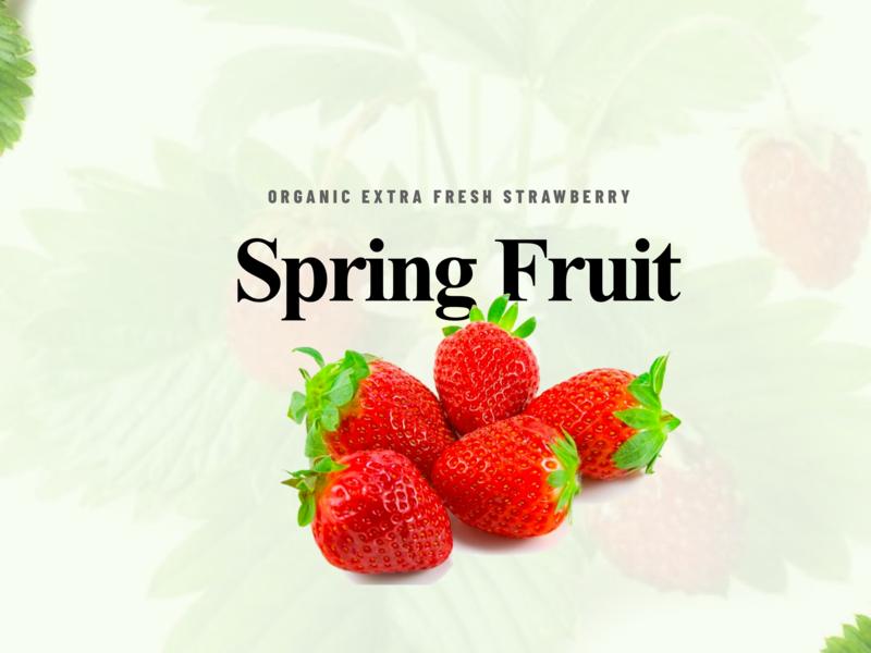 Spring Fruit 3d vector branding uidesign ui