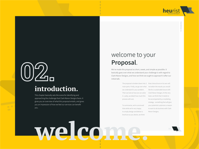 Project Proposal - Inner Page heurist heurist - the brand developers minimal layout layoutdesign agency design project marketing agency ui typography illustration proposal