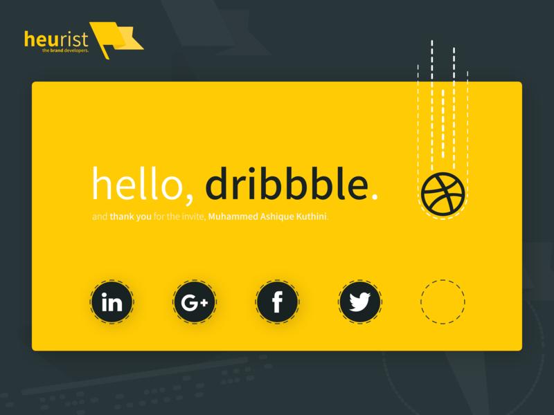 And so we debut. Hello, Dribbble. illustration design branding agency heurist - the brand developers hello dribbble hello branding heurist debut