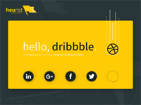 And so we debut. Hello, Dribbble.