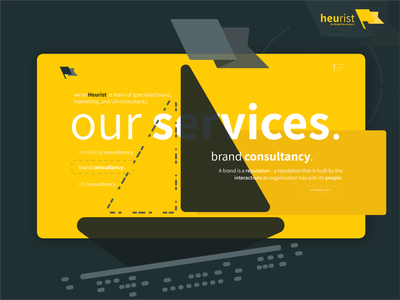 Our Services. Exploring some design ideas. vector branding agency ui ux marketing agency flat design branding agency illustration minimal heurist - the brand developers heurist